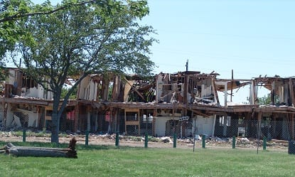 An apartment complex owned by J&B Realty was completely destroyed in the April plant explosion in West, Texas