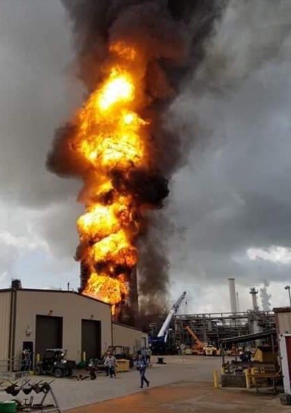 ExxonMobil plant fire