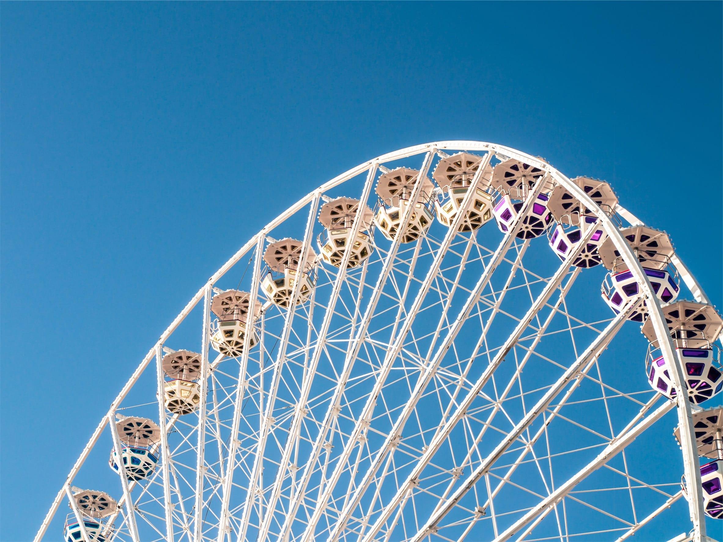 Amusement park Ferris wheel